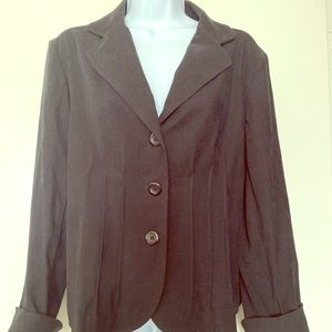 Requirements dark black faux suede blazer size 10